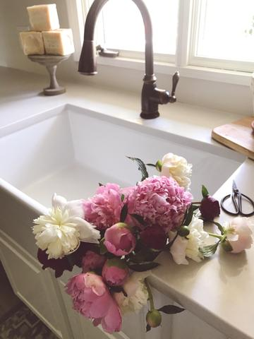peonies-filled-kitchen-sink