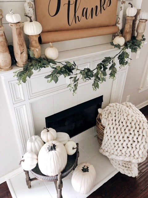 farmhouse white fireplace