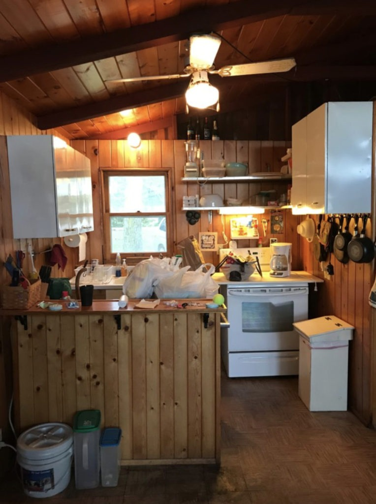 old cabin kitchen
