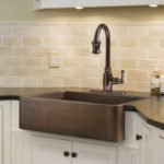 adams farmhouse apron front copper kitchen sink