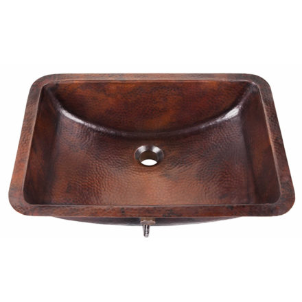 curie undermount copper bathroom sink