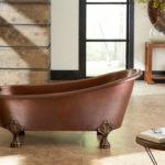 fully installed heisenberg claw foot copper bathtub