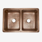 rockwell double bowl copper kitchen sink