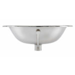 front view of dalton drop-in nickel bathroom sink