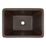 top view of hawking 20 undermount copper bathroom sink