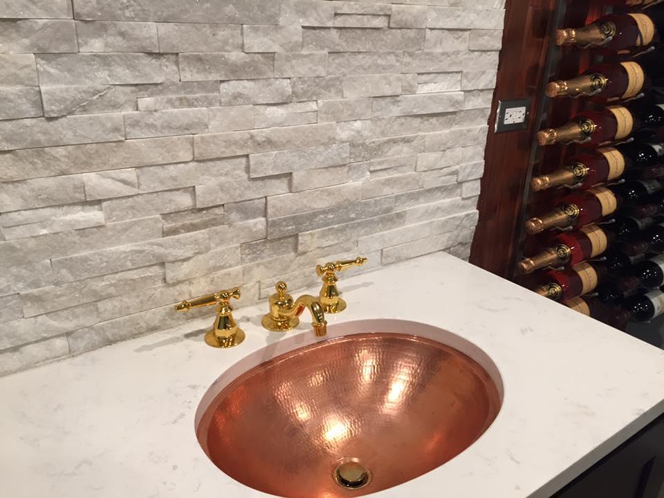 undermount naked copper sink