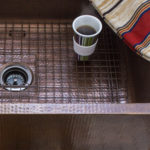 wright kitchen sink bottom grid fitted inside hand hammered copper sink
