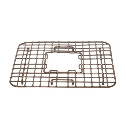 vinyl coated antique brown gehry kitchen sink bottom grid