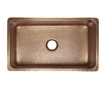 top view of david undermount 16-gauge copper kitchen sink