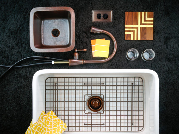The Bradstreet Fireclay Farmhouse Sink and the Pollock Copper Bar Sink: Designing with the Sink in Mind
