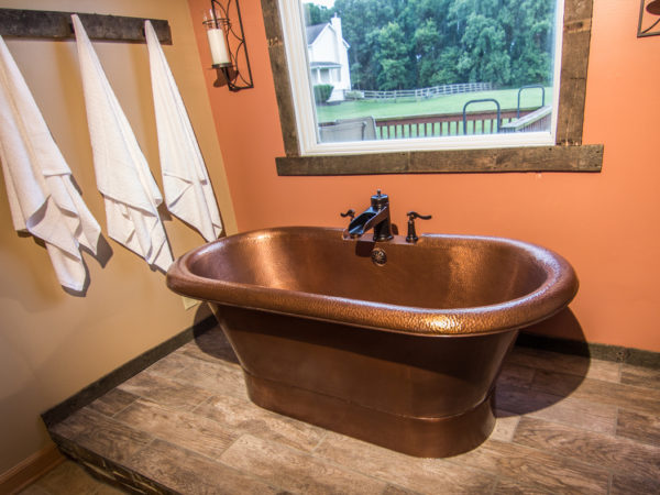 Before and After: A Copper Bathroom Duet
