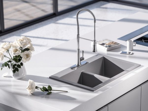 On Board with Design: Whitney Granite Sink in Graphite Gray