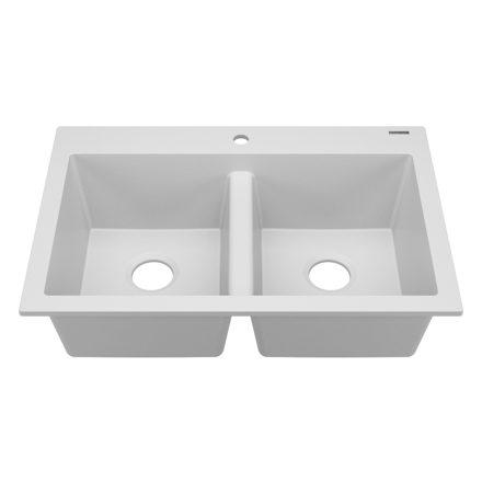 whitney double bowl granite kitchen sink
