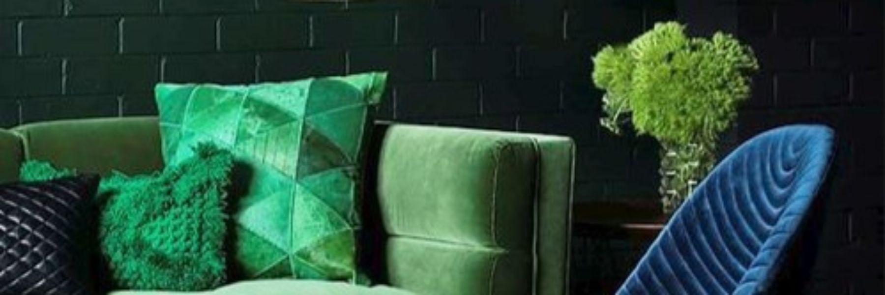 Green and Copper Living Room