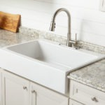 Josephine quick-fit, drop-in fireclay farmhouse kitchen sink environmental image