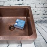 copper careiq kit, defend protective sealant, in copper kitchen sink