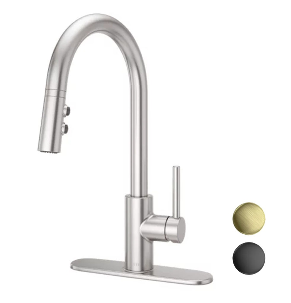 Stellen faucet with finishes