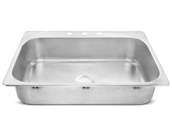 brushed crafted stainless steel drop-in sink