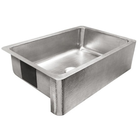 brushed crafted stainless steel single bowl farmhouse sink