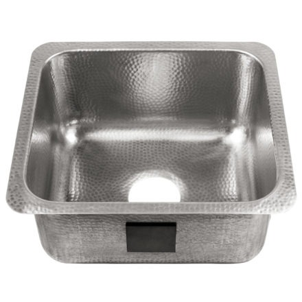 brushed crafted stainless steel bar prep sink