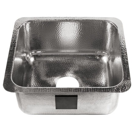 polished crafted stainless steel bar prep sink