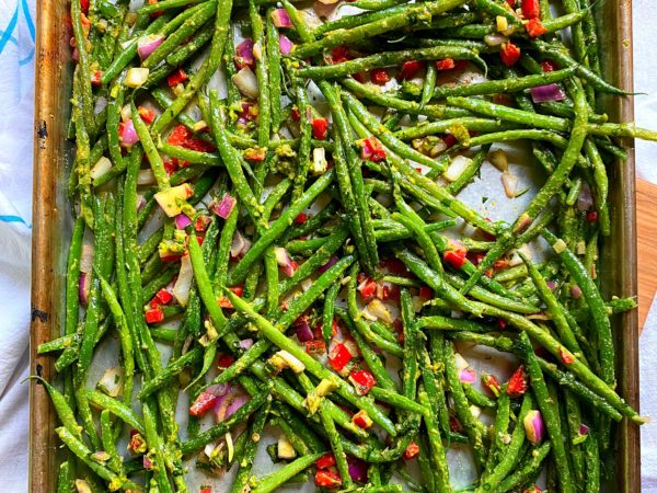 Fancy Sheet Pan Green Beans