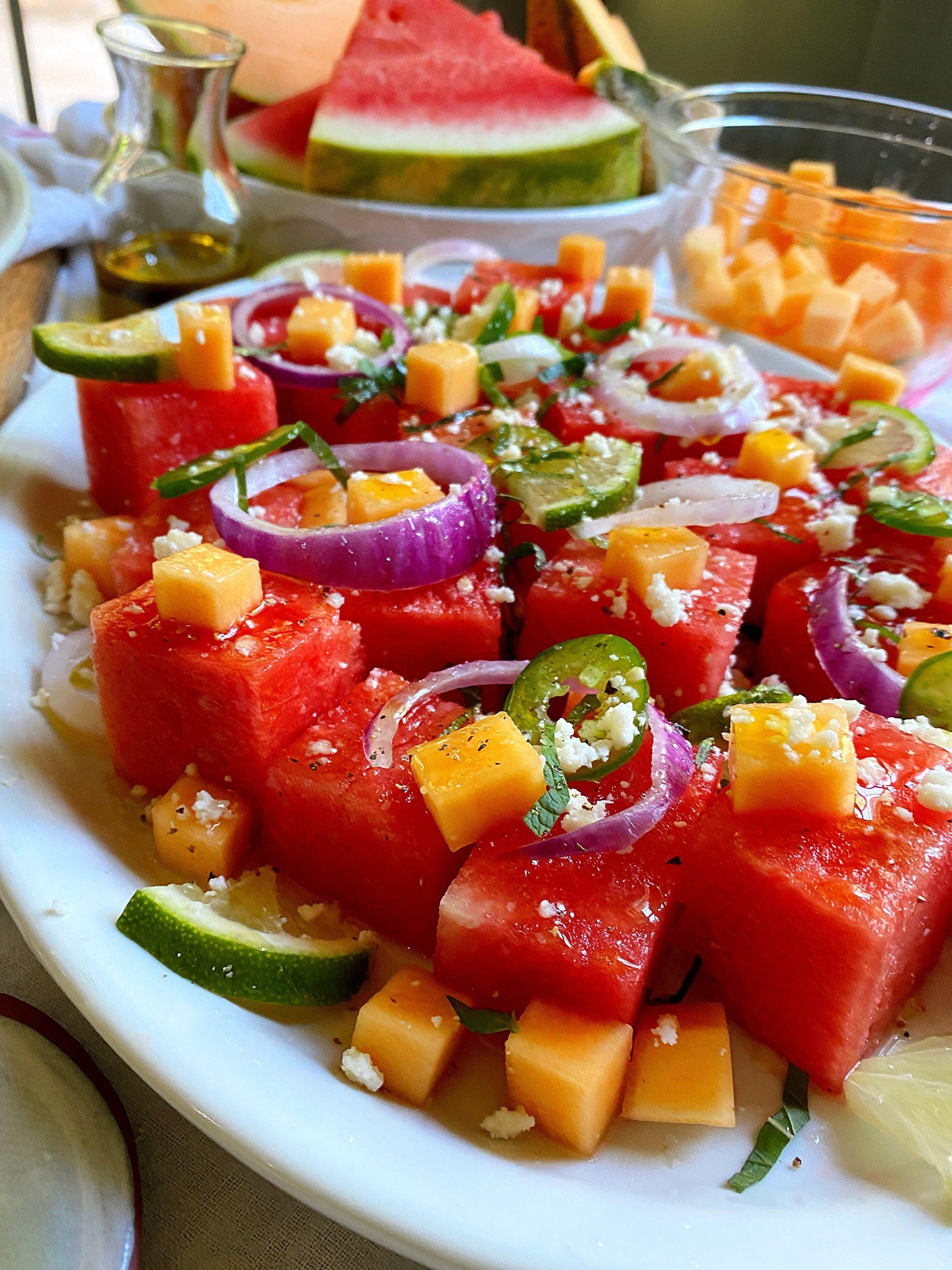 mojito melon summer salad platter