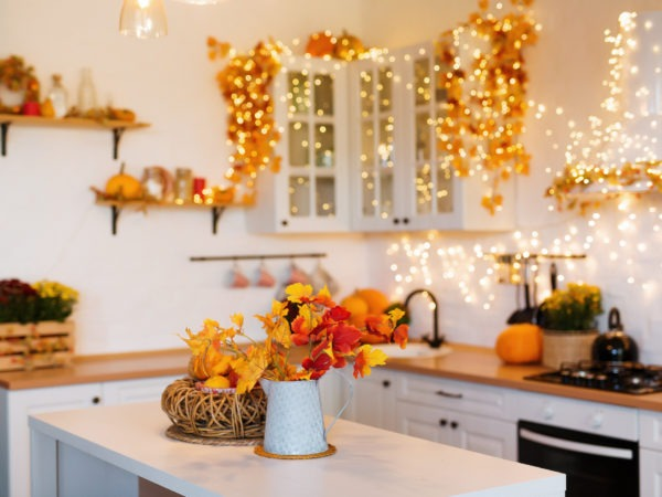 fall decor in a kitchen