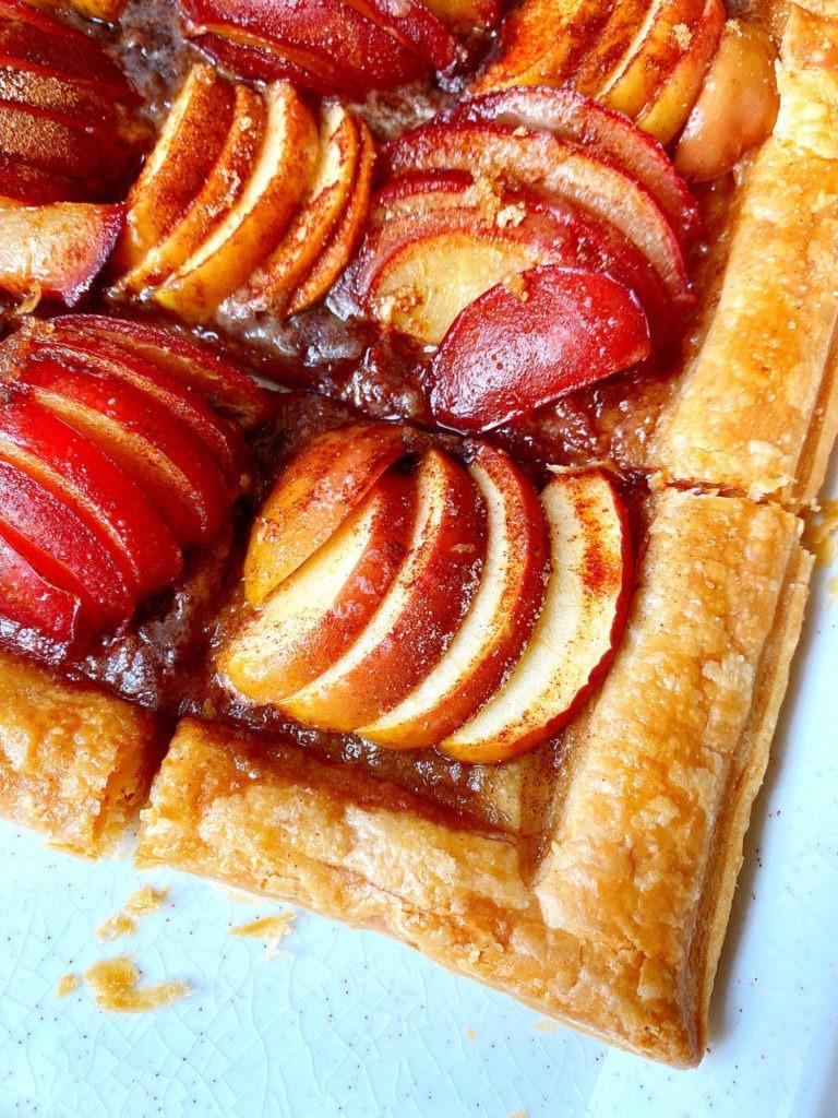 sliced tart close up