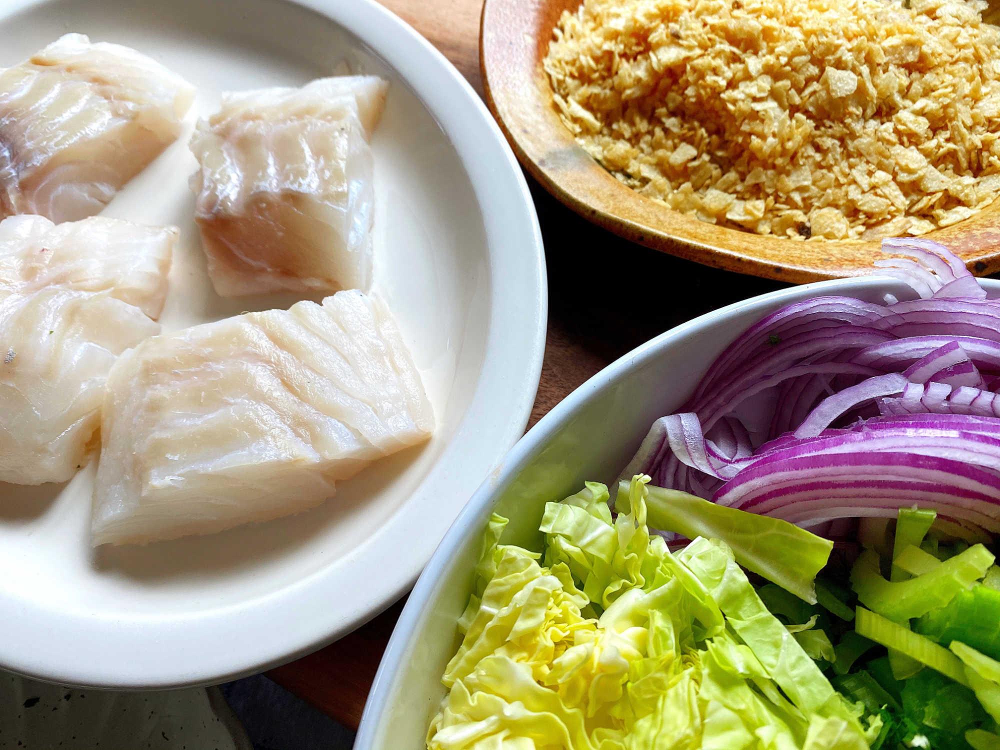 raw cod ingredients
