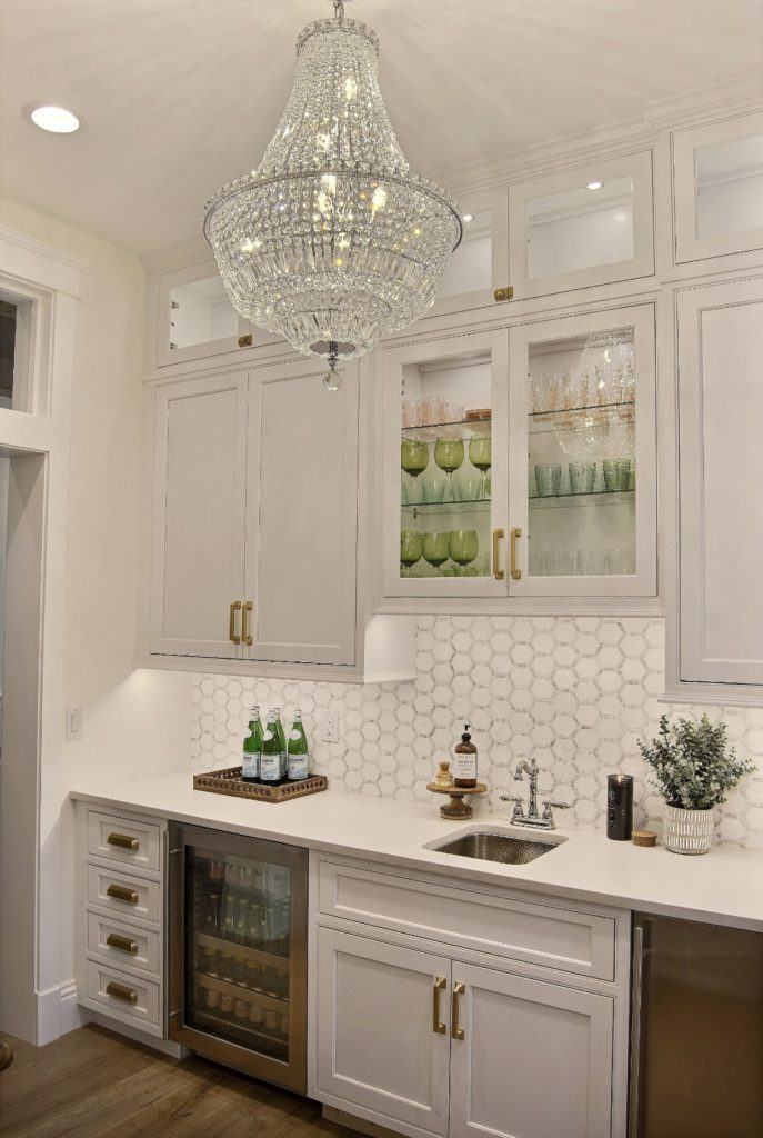Brand new fancy home bar with stainless Wilson Sink