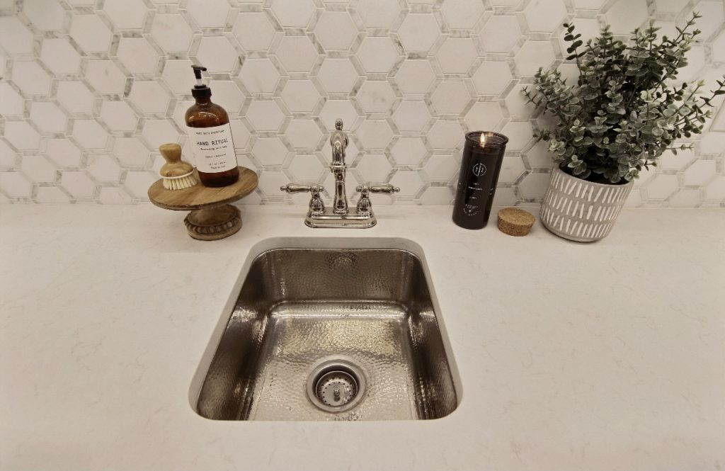 Close up of the Wilson Home Bar Sink