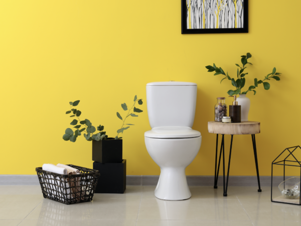 Warm Up Your Guest Bathroom With Color