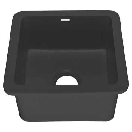 "Eden 18"" Matte Black Fireclay Bar Prep Sink"